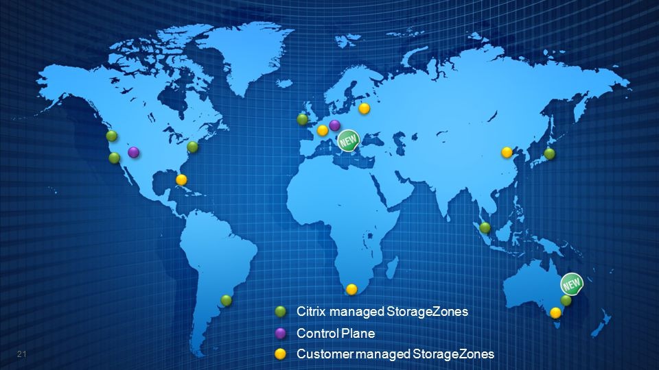Citrix managed StorageZones