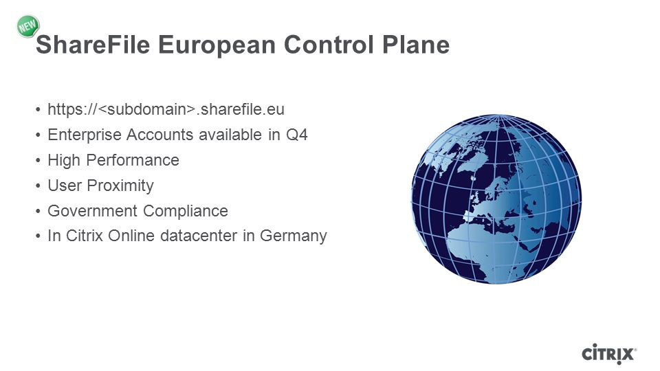 ShareFile European Control Plane