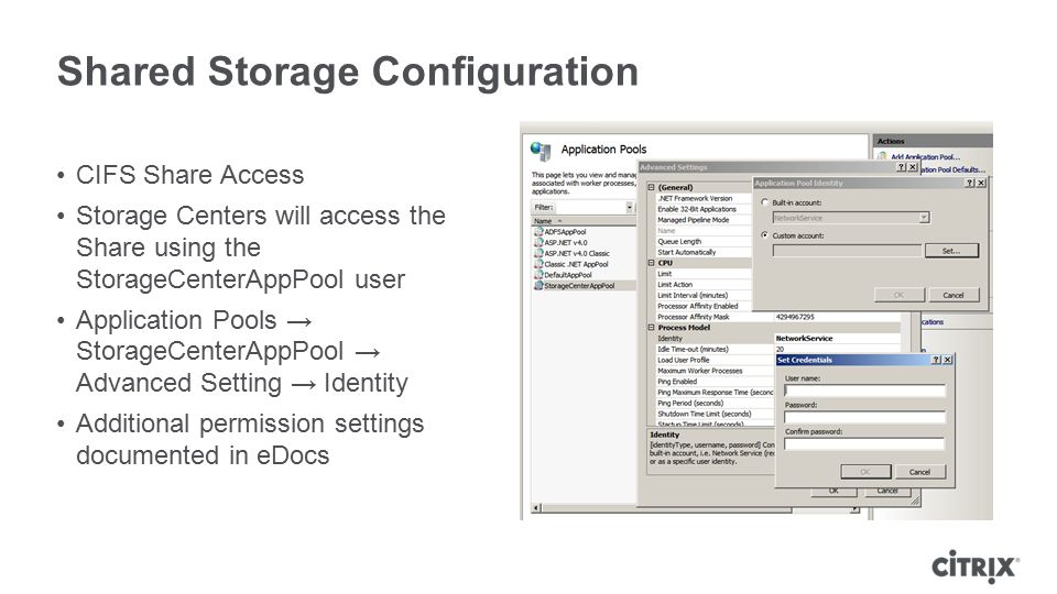 Shared Storage Configuration