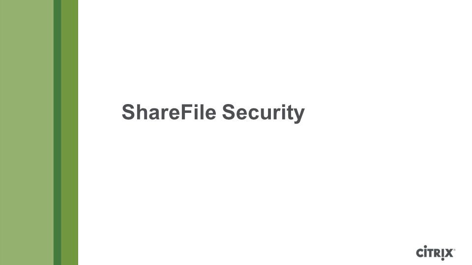 ShareFile Security