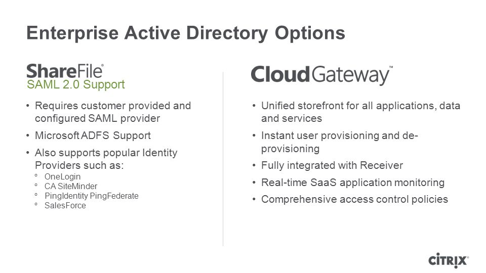 Enterprise Active Directory Options