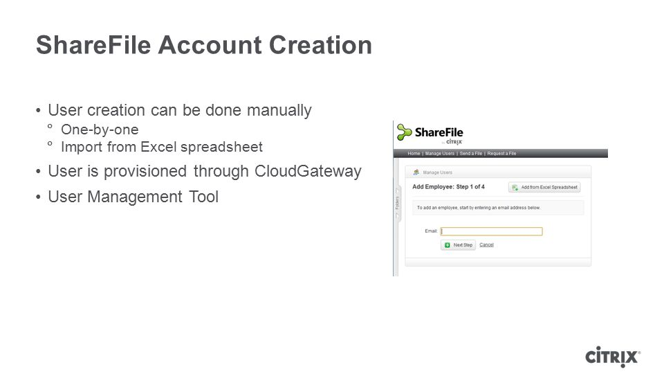 ShareFile Account Creation