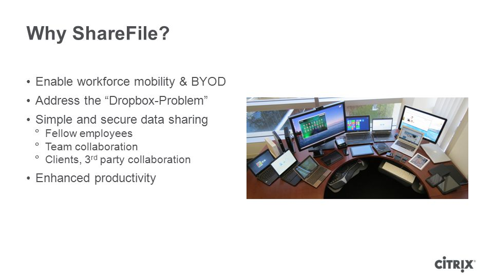 Why ShareFile Enable workforce mobility & BYOD