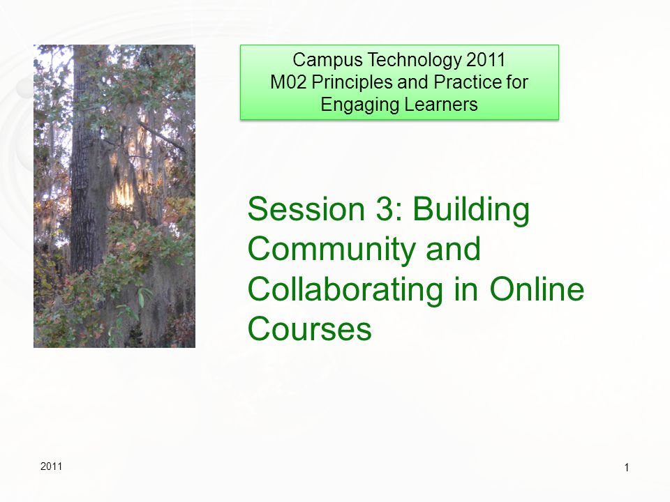 Session 3: Building Community and Collaborating in Online Courses