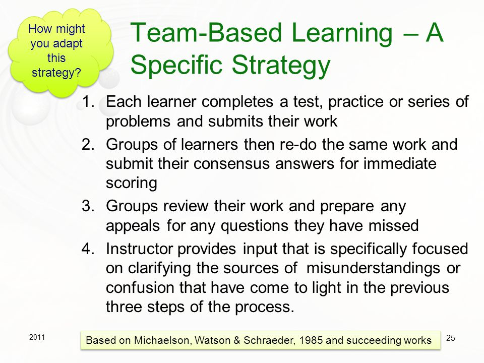 Team-Based Learning – A Specific Strategy