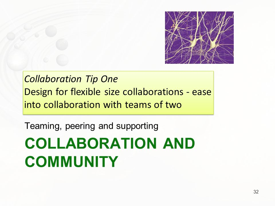 Collaboration and community