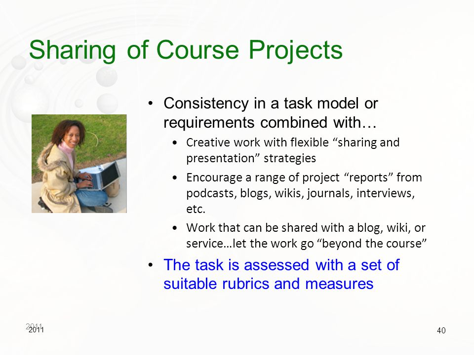 Sharing of Course Projects