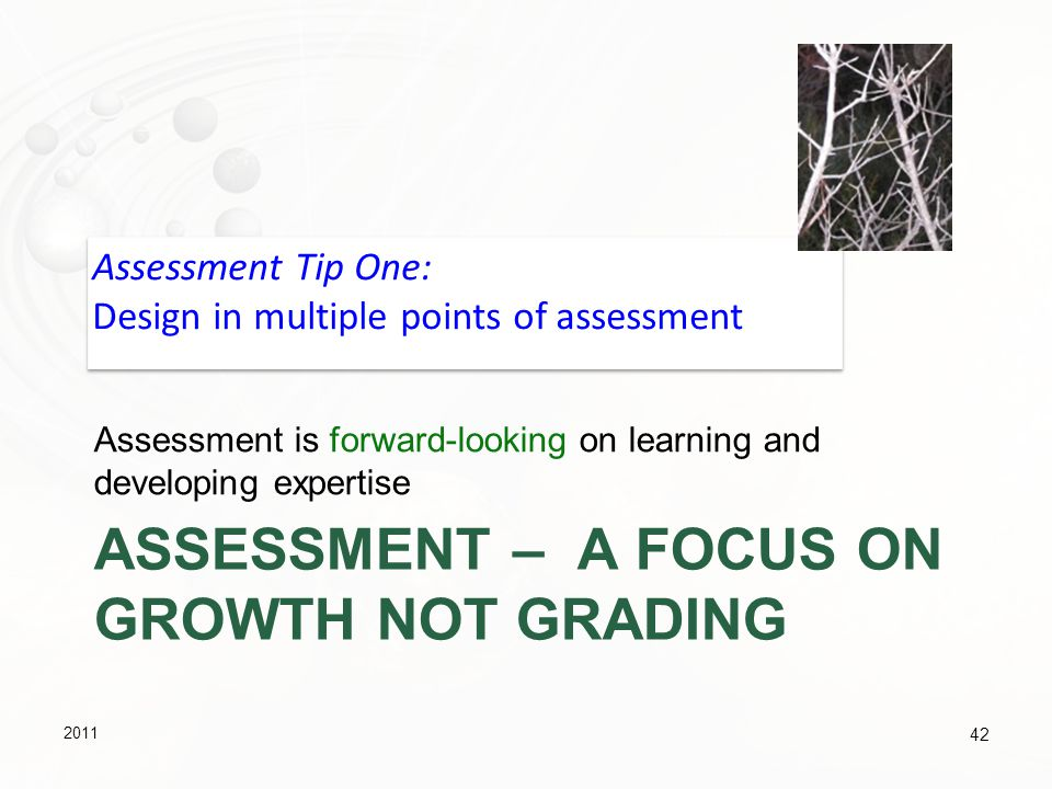 Assessment – A focus on growth not grading