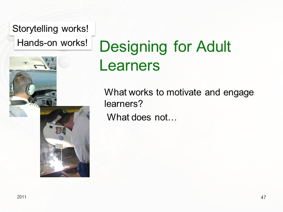 Designing for Adult Learners