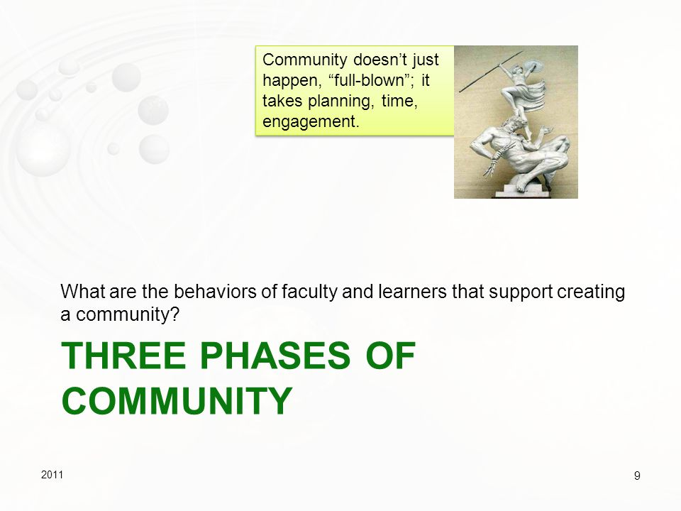 Three Phases of Community