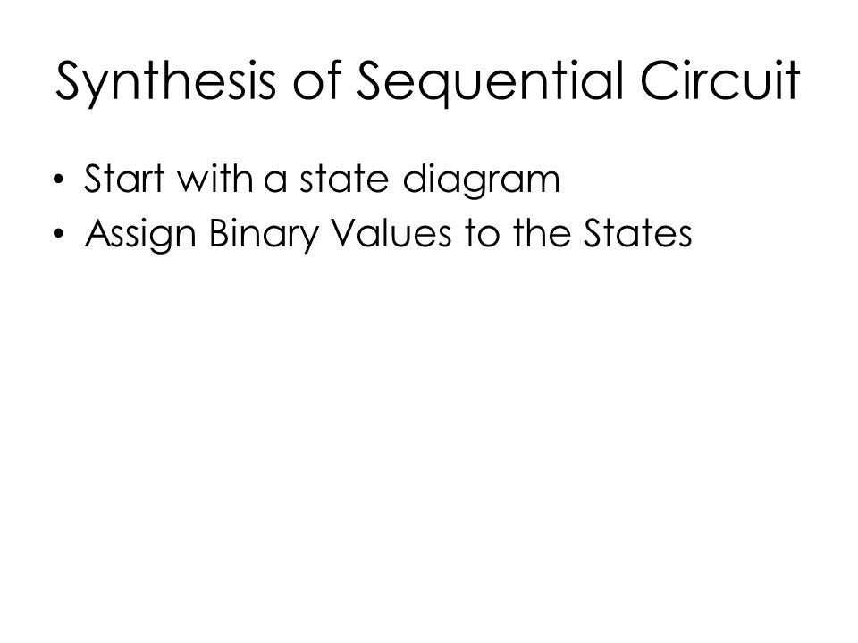 Synthesis of Sequential Circuit