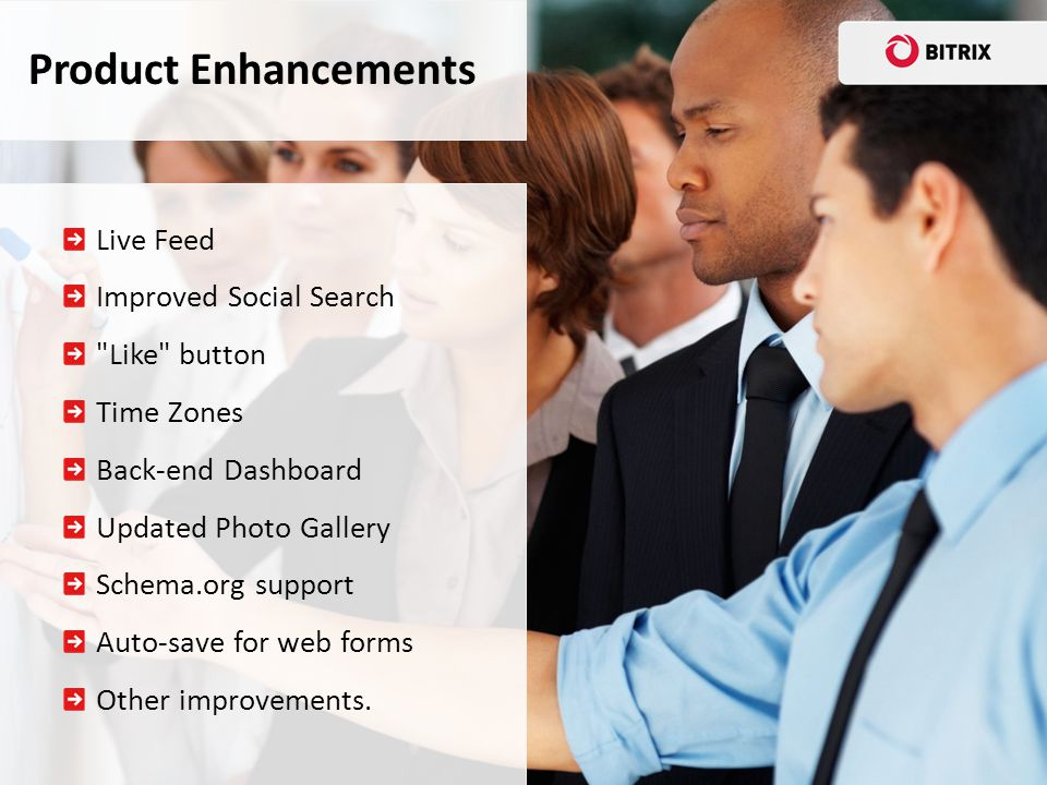 Product Enhancements Live Feed Improved Social Search Like button