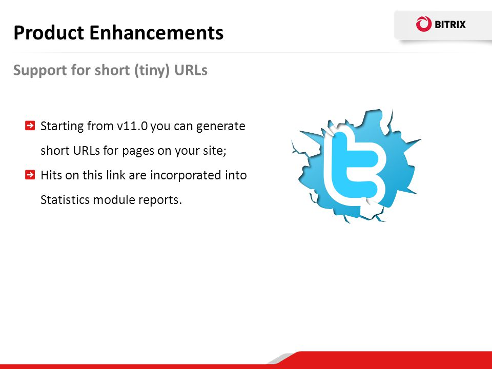 Product Enhancements Support for short (tiny) URLs