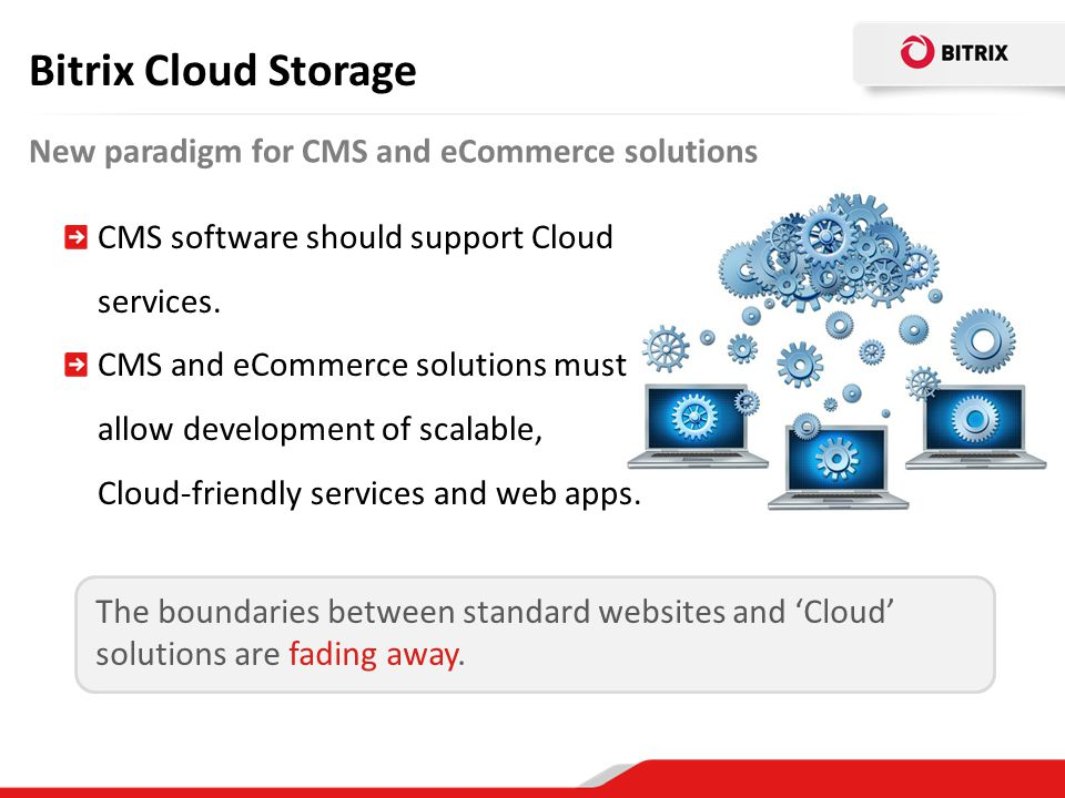 Bitrix Cloud Storage New paradigm for CMS and eCommerce solutions