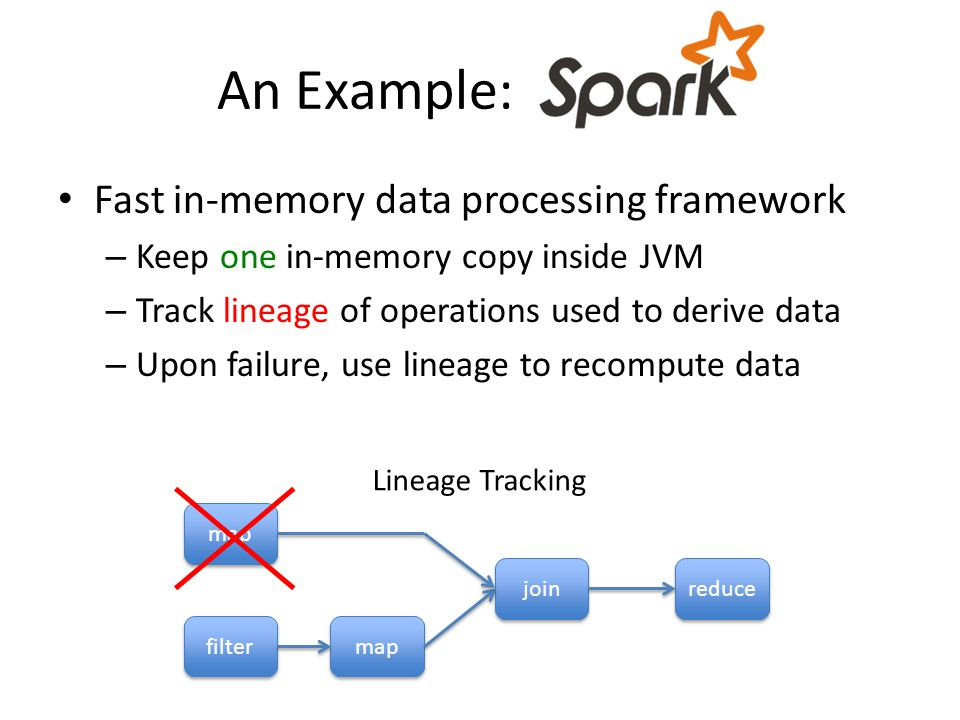 An Example: - Fast in-memory data processing framework