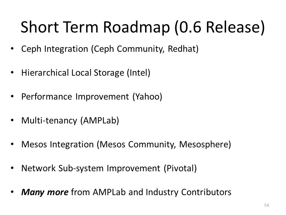 Short Term Roadmap (0.6 Release)