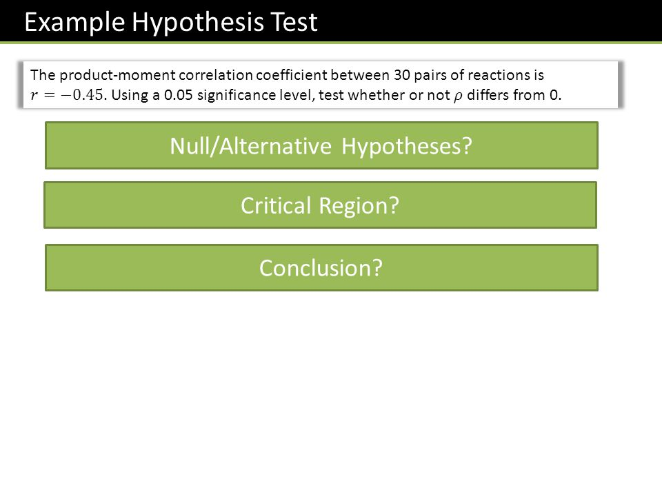 Null/Alternative Hypotheses