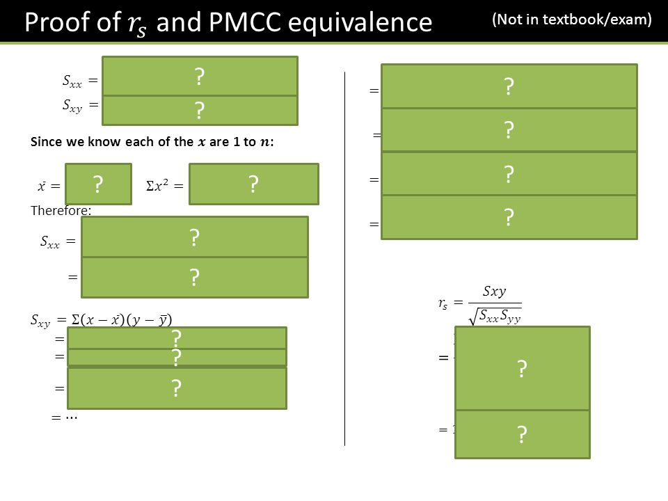 Proof of 𝑟 𝑠 and PMCC equivalence