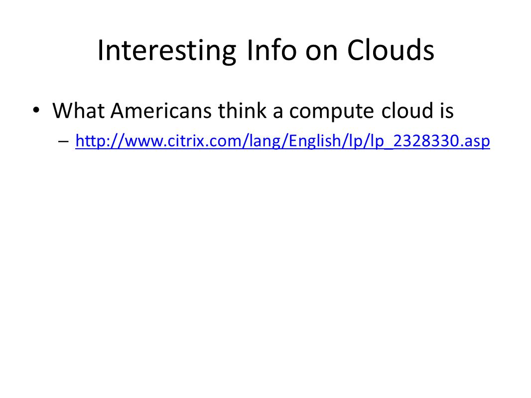 Interesting Info on Clouds