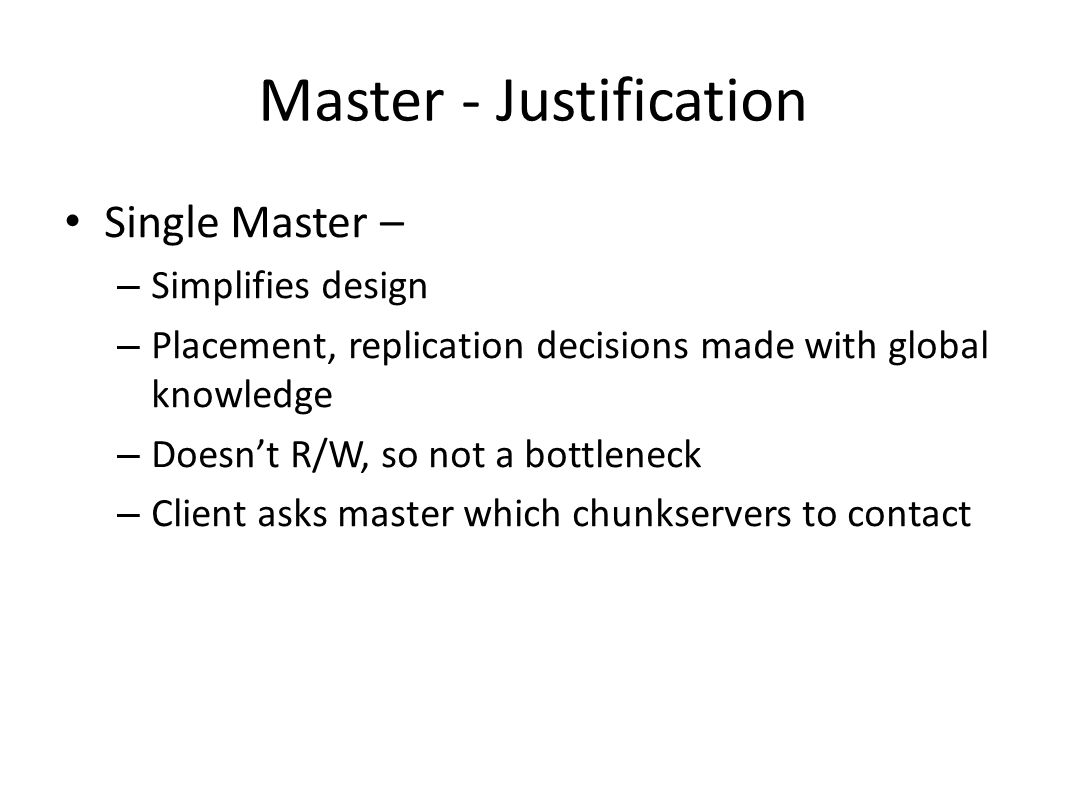 Master - Justification