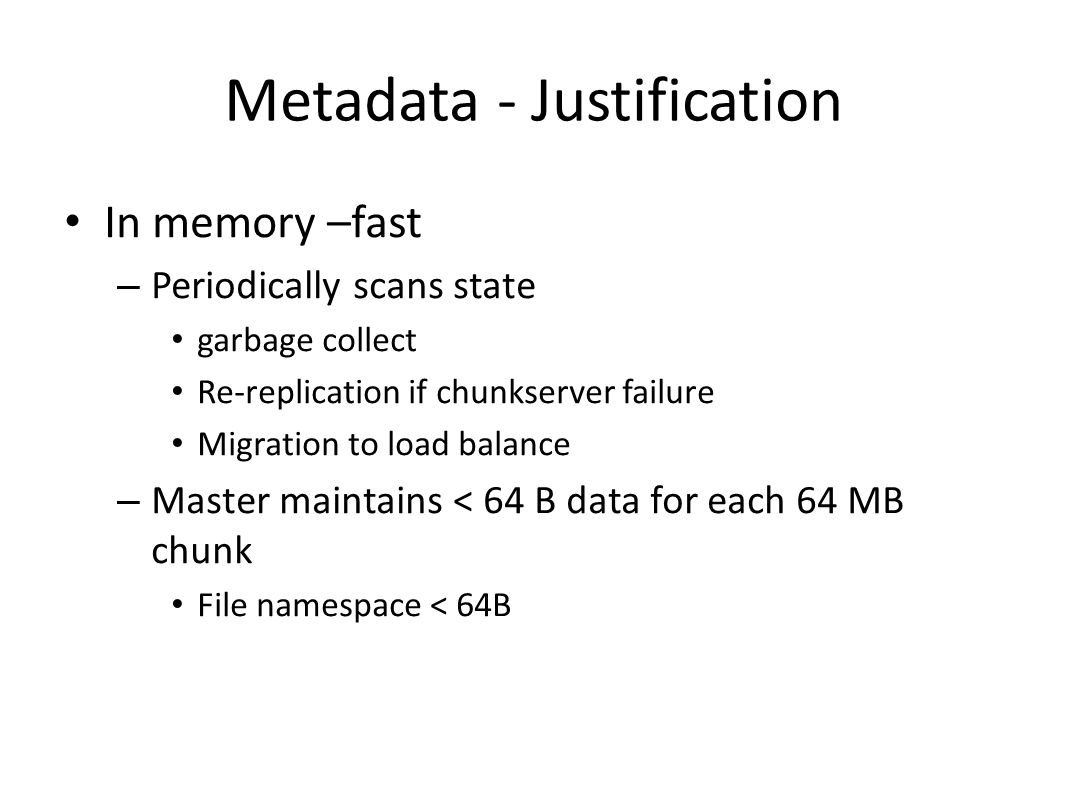 Metadata - Justification