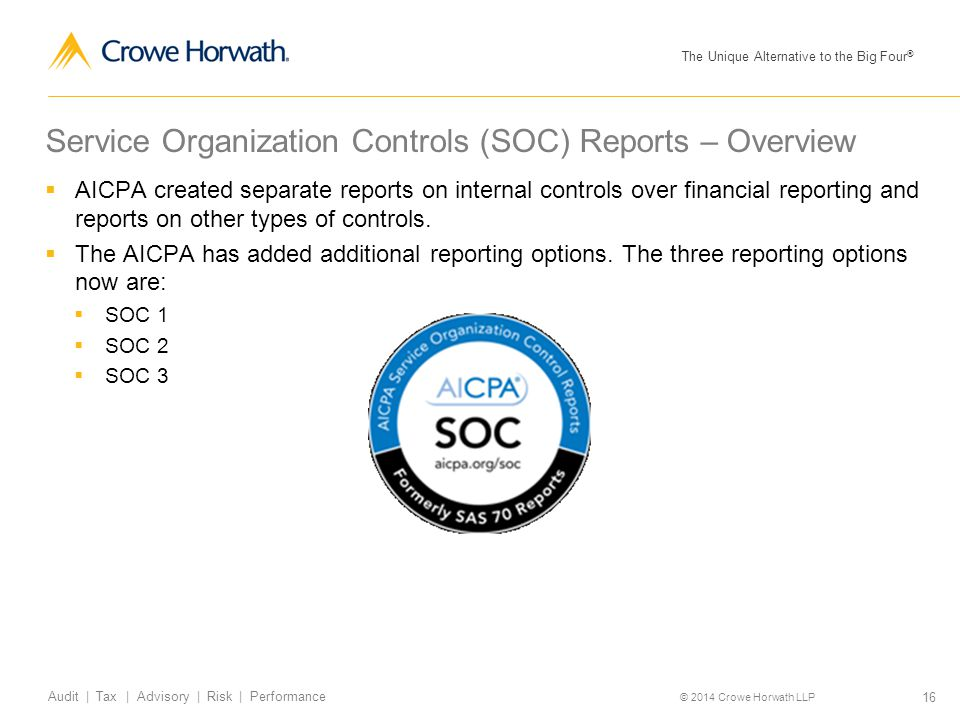 Service Organization Controls (SOC) Reports – Overview