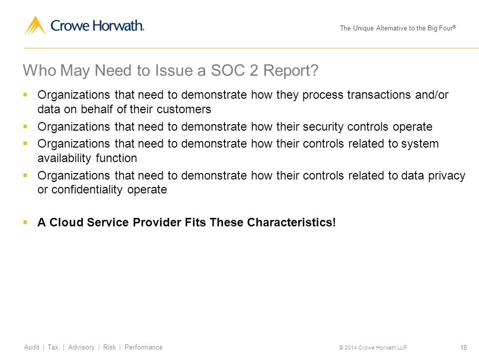 Who May Need to Issue a SOC 2 Report