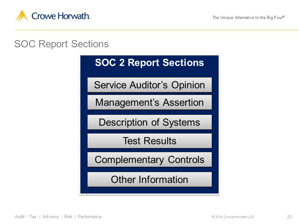 Service Auditor's Opinion