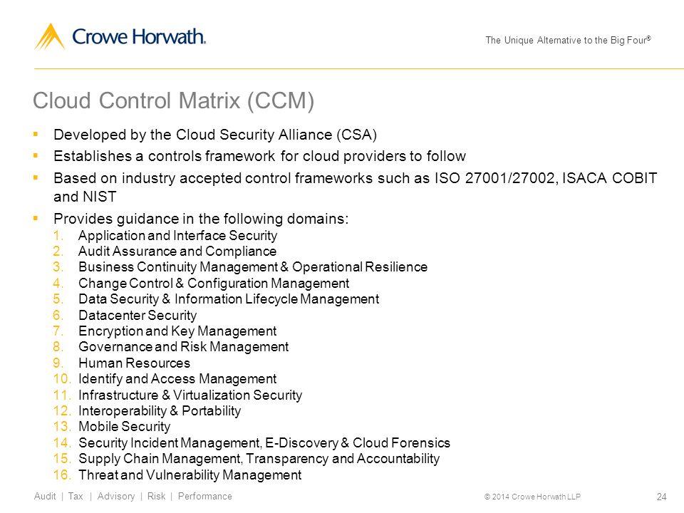 Cloud Control Matrix (CCM)