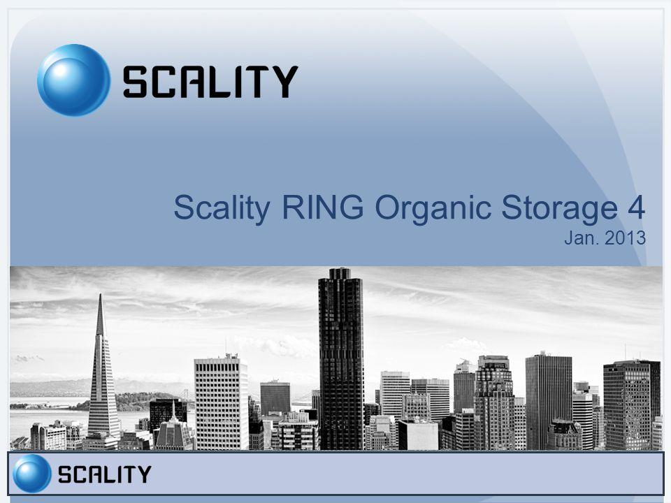 Scality RING Organic Storage 4 Jan. 2013