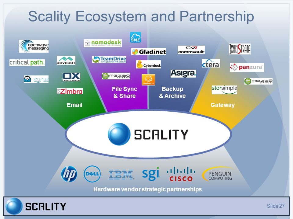 Scality Ecosystem and Partnership