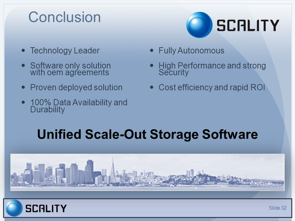 Unified Scale-Out Storage Software