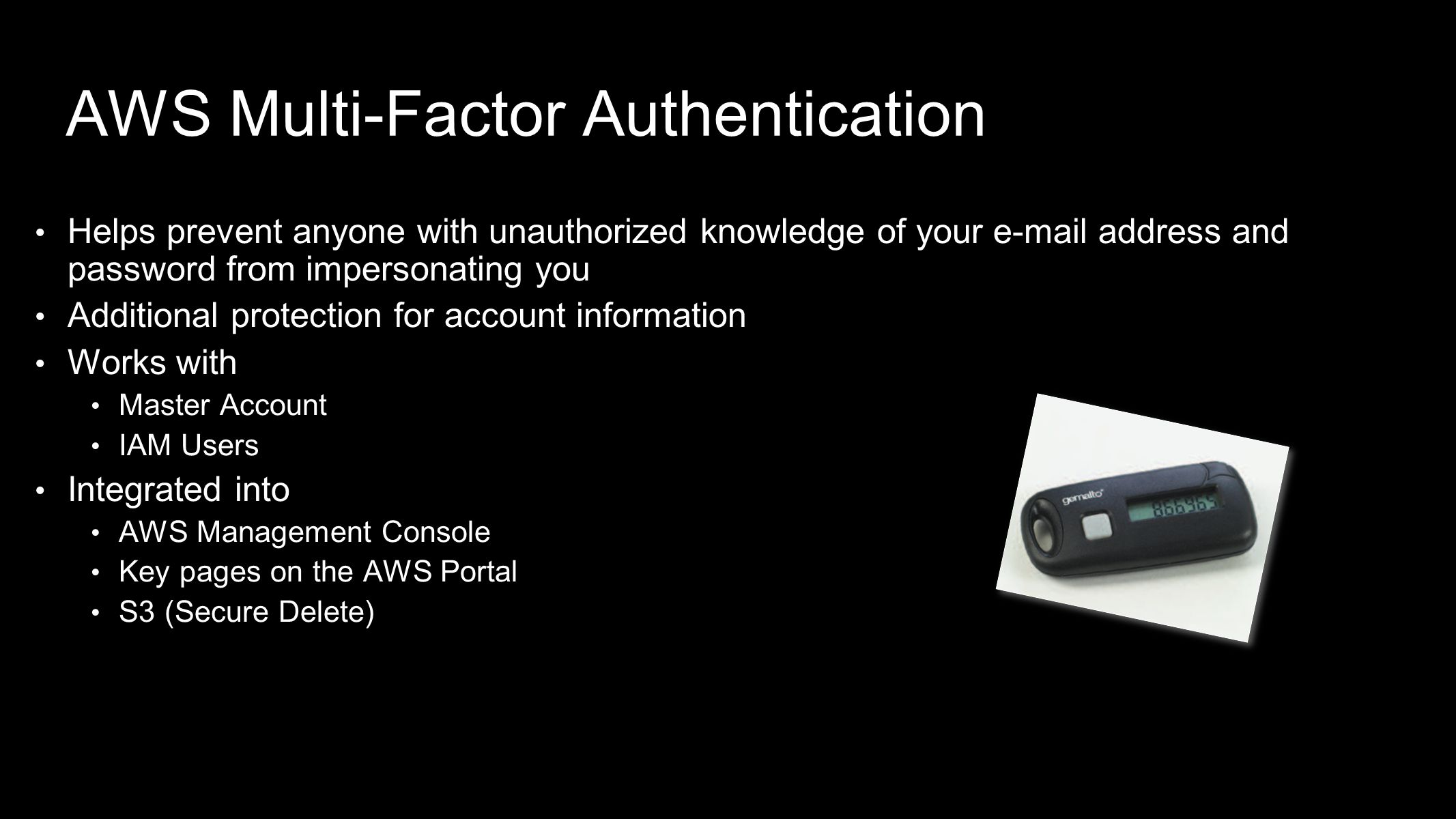 AWS Multi-Factor Authentication