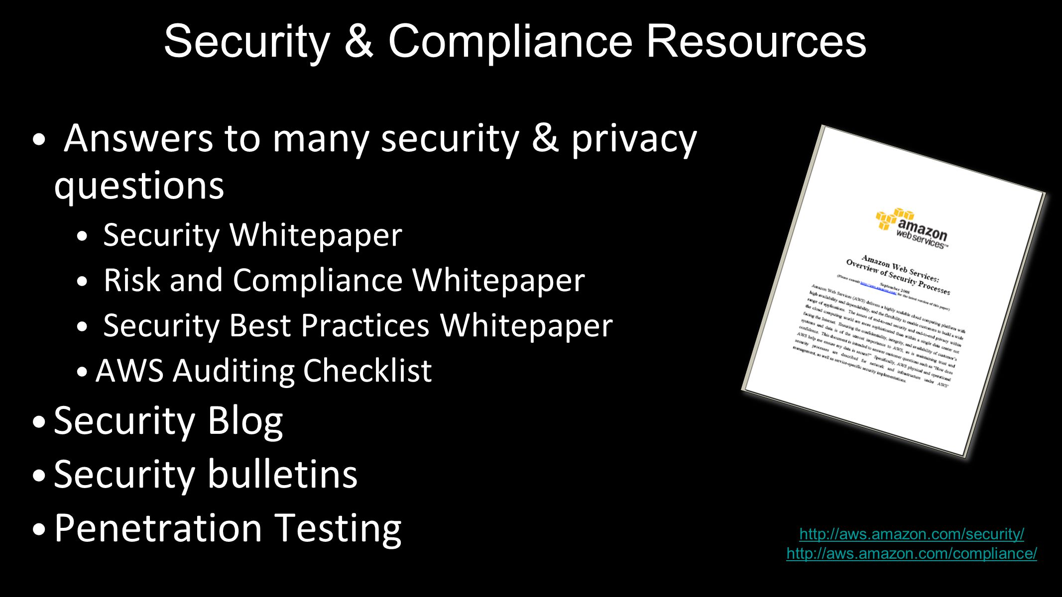 Security & Compliance Resources