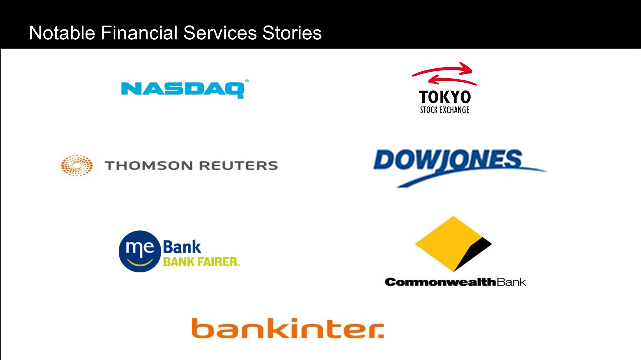 Notable Financial Services Stories
