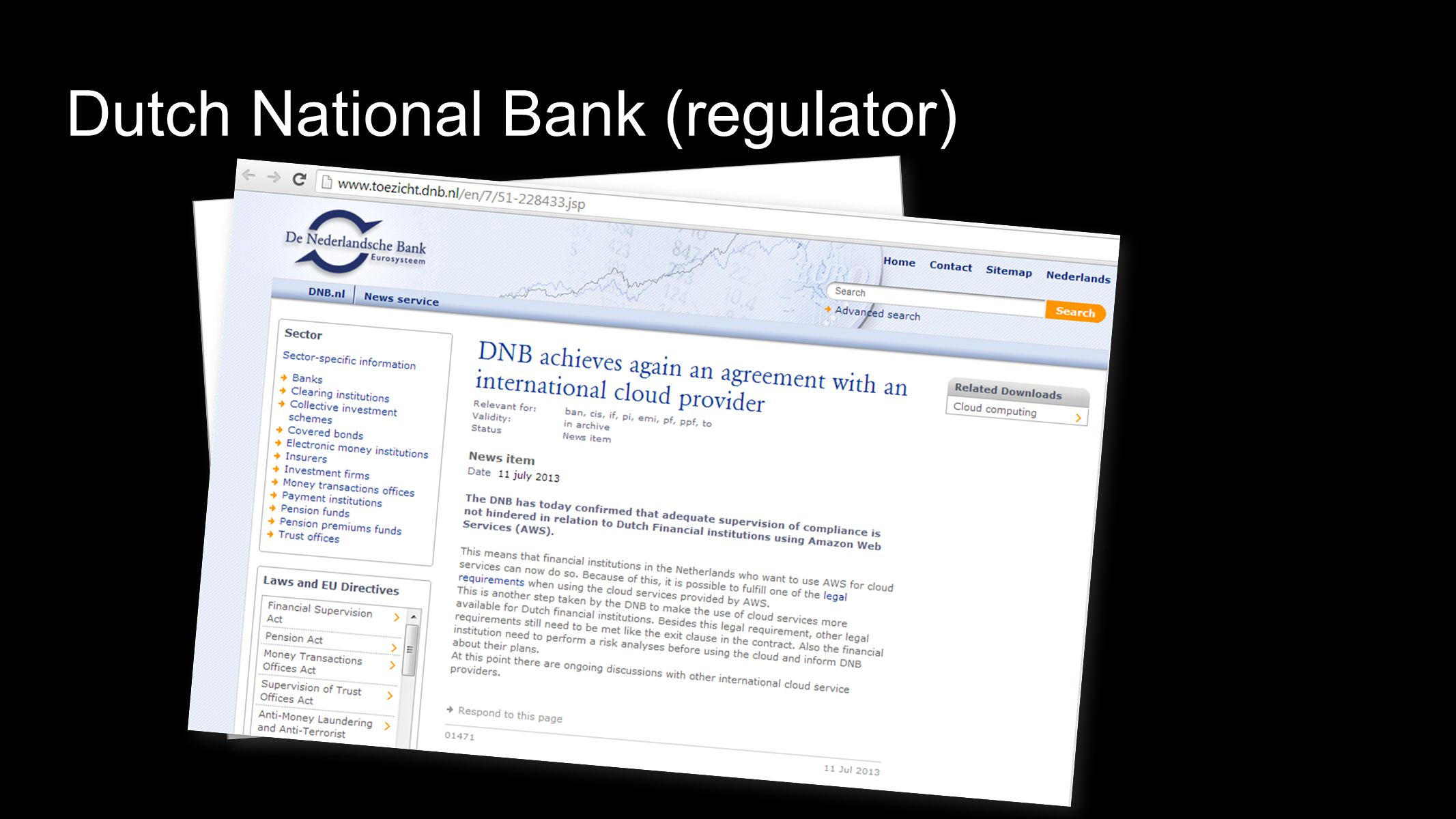 Dutch National Bank (regulator)