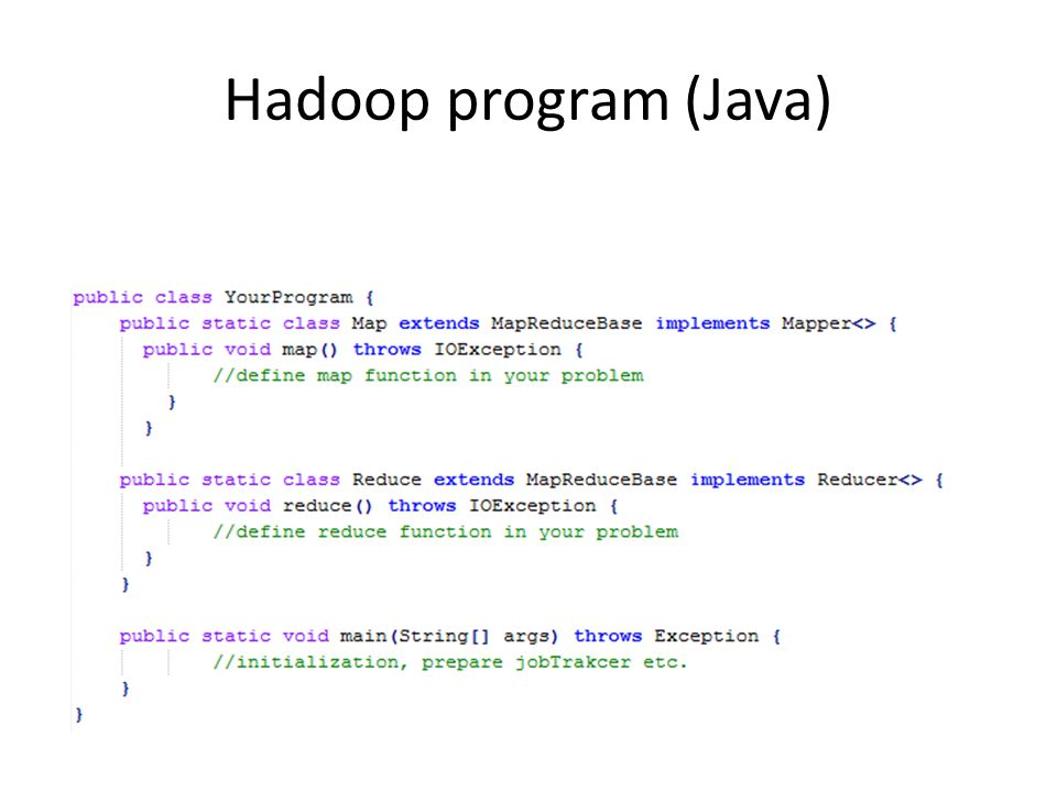 Hadoop program (Java)