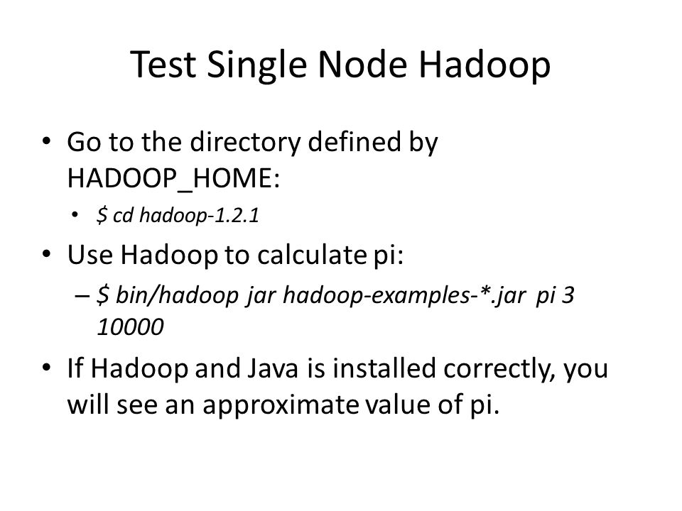 Test Single Node Hadoop