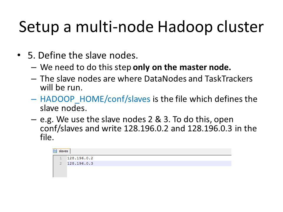 Setup a multi-node Hadoop cluster