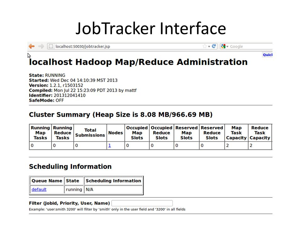 JobTracker Interface