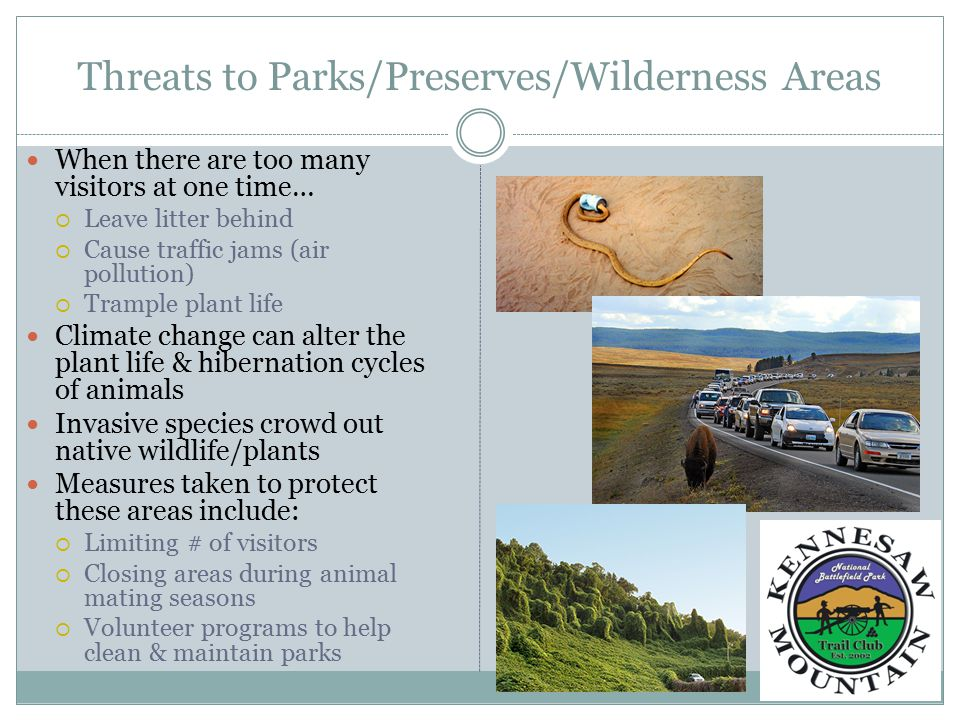 Threats to Parks/Preserves/Wilderness Areas