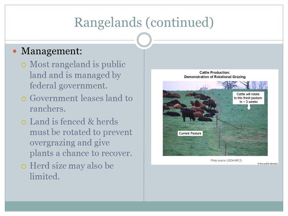 Rangelands (continued)
