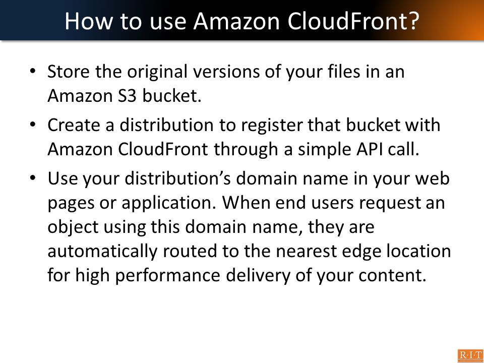 How to use Amazon CloudFront