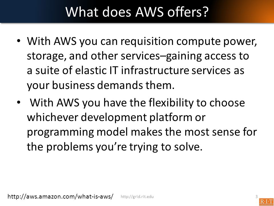 What does AWS offers