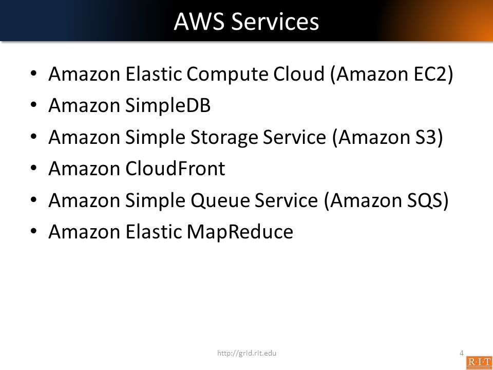 AWS Services Amazon Elastic Compute Cloud (Amazon EC2) Amazon SimpleDB
