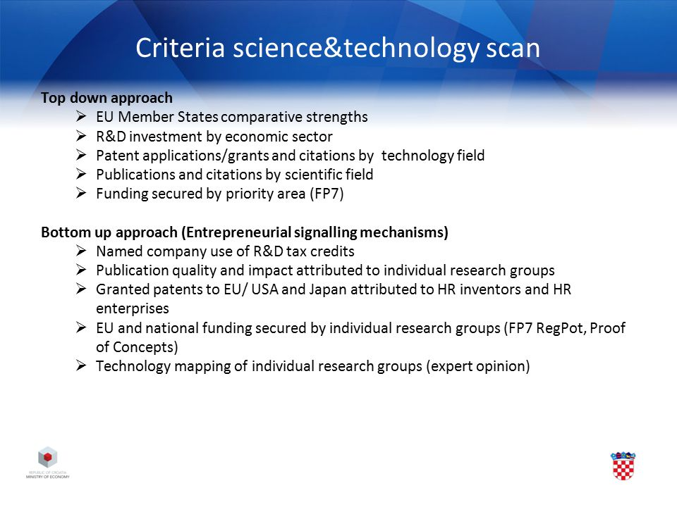 Criteria science&technology scan