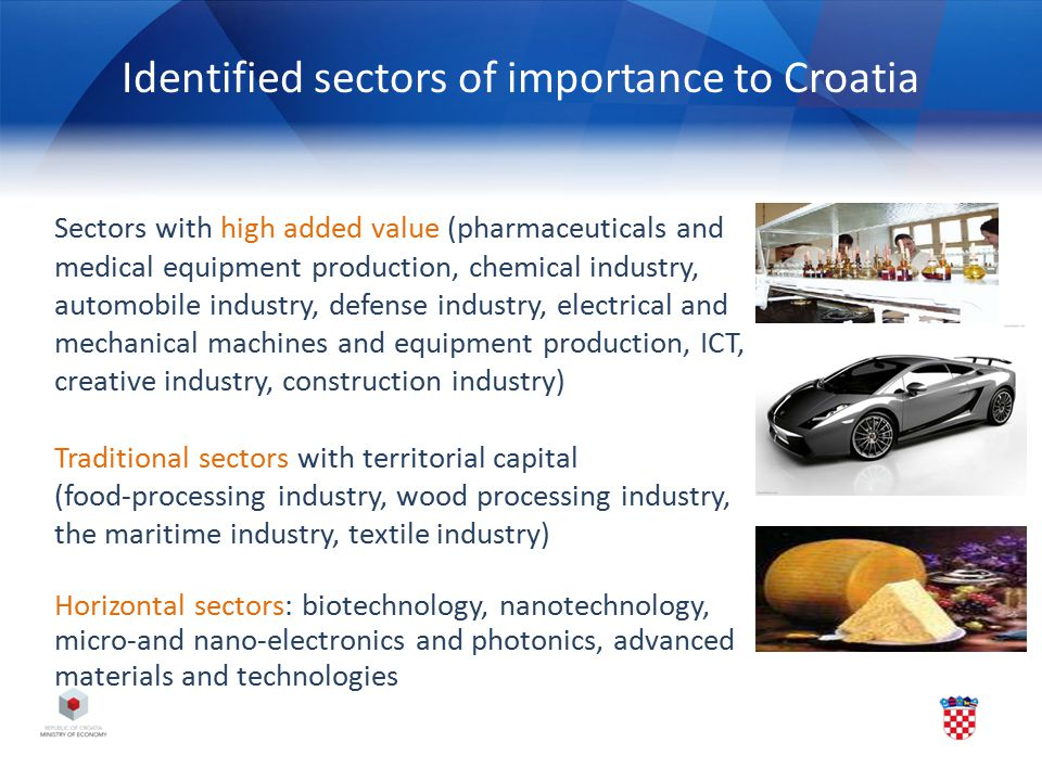 Identified sectors of importance to Croatia