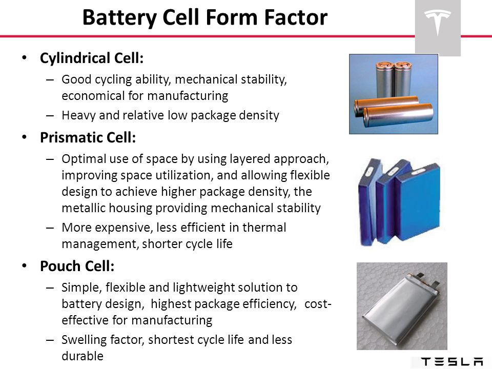 Battery Cell Form Factor
