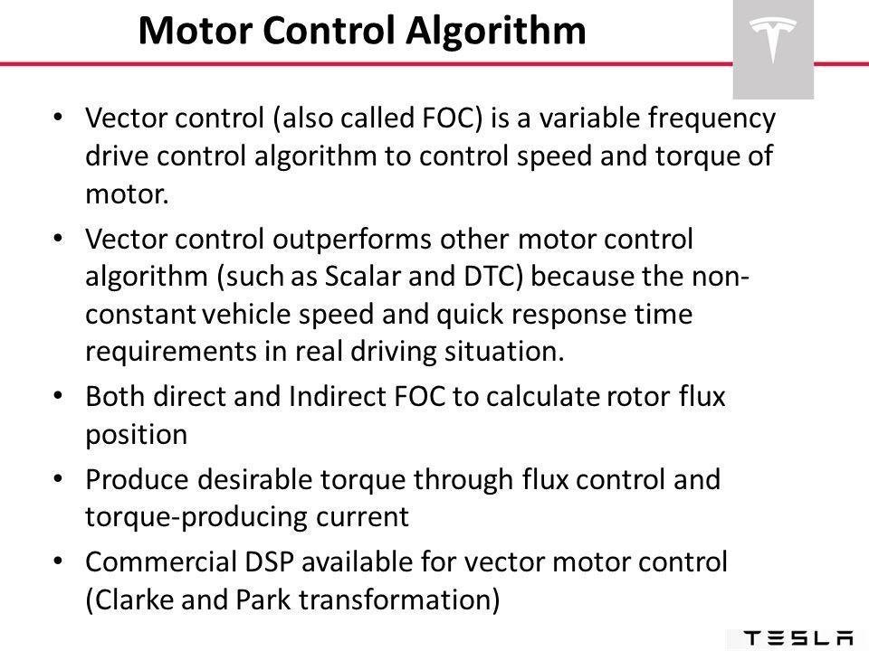 Motor Control Algorithm