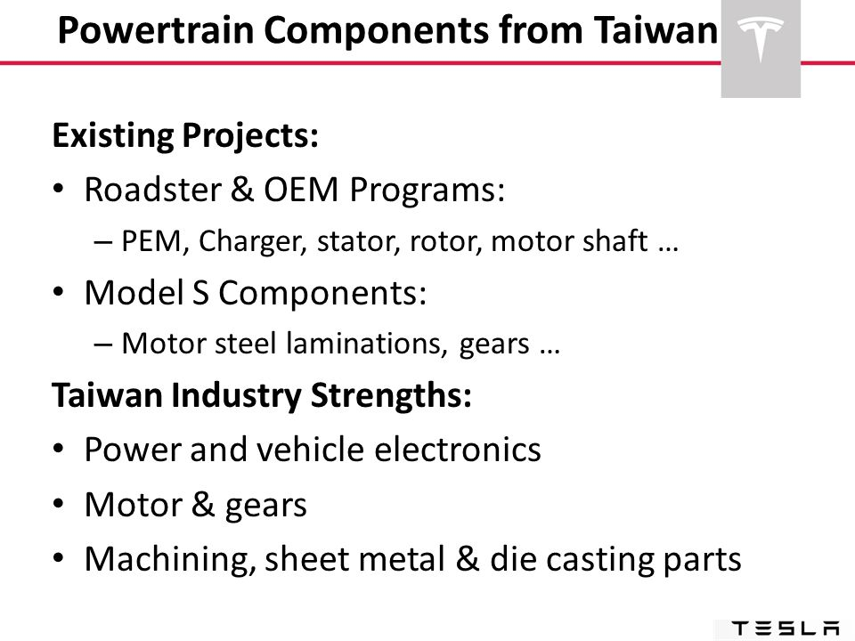 Powertrain Components from Taiwan